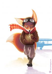 illustration-aviator-flying-fox-aviateur-renard-volant
