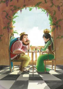illustration-conte-king-queen-games-of-chess-roi-reine-partie-echec-jeremy-parigi