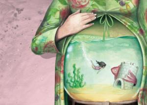 """Illustration de l'album: """"Quelque chose de rond"""" paru chez La Pimpante."""