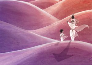 """Illustration de l'album: """"Toi, ma maman à l'infini"""" paru chez La Pimpante."""