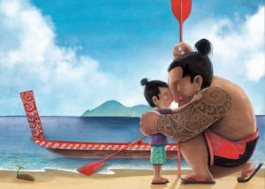 illustration-toi-mon-papa-maori-jeunesse-jeremy-parigi-kid