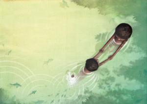 """Illustration de l'album: """"Toi, mon papa à l'infini"""" paru chez La Pimpante."""