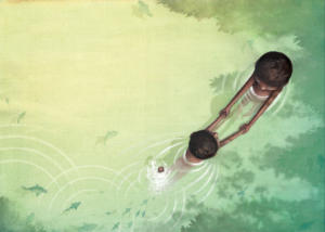 illustration-toi-mon-papa-swimming-nage-lac-afrique-jeunesse-jeremy-parigi-kid