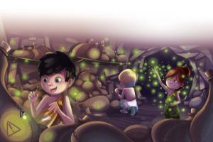 illustration-youth-petits-dieux-olympe-zeus-poseidon-hera-hestia-hades-lucioles-grotte-jeremy-parigi